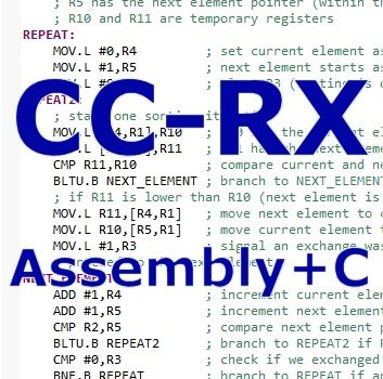 Mixing C and Assembly on CC-RX Compiler